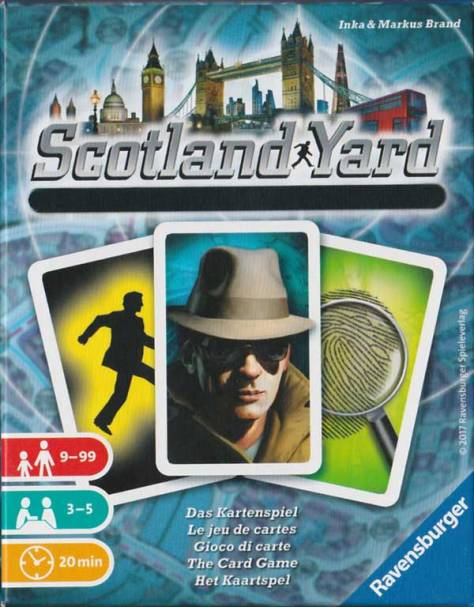 Scotland Yard le jeu de cartes