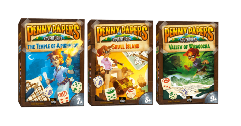 Les 3 boites de Penny Papers adventures