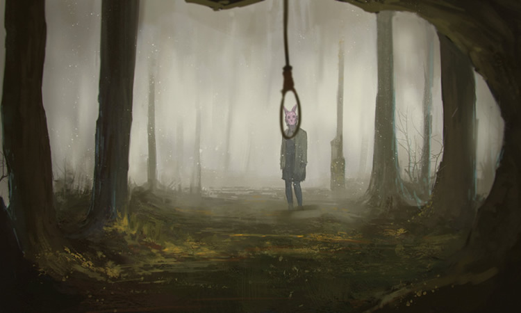 Le masque de la personnalité cachant son désir de mourir