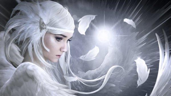 Femme fée porteuse de la pureté élémental et de l'énergie féminine sacrée