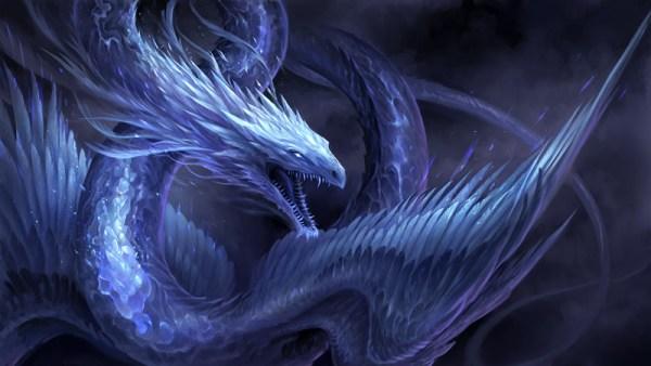 Le dragon séraphin angélique, l'archange Michaël face au Dragon