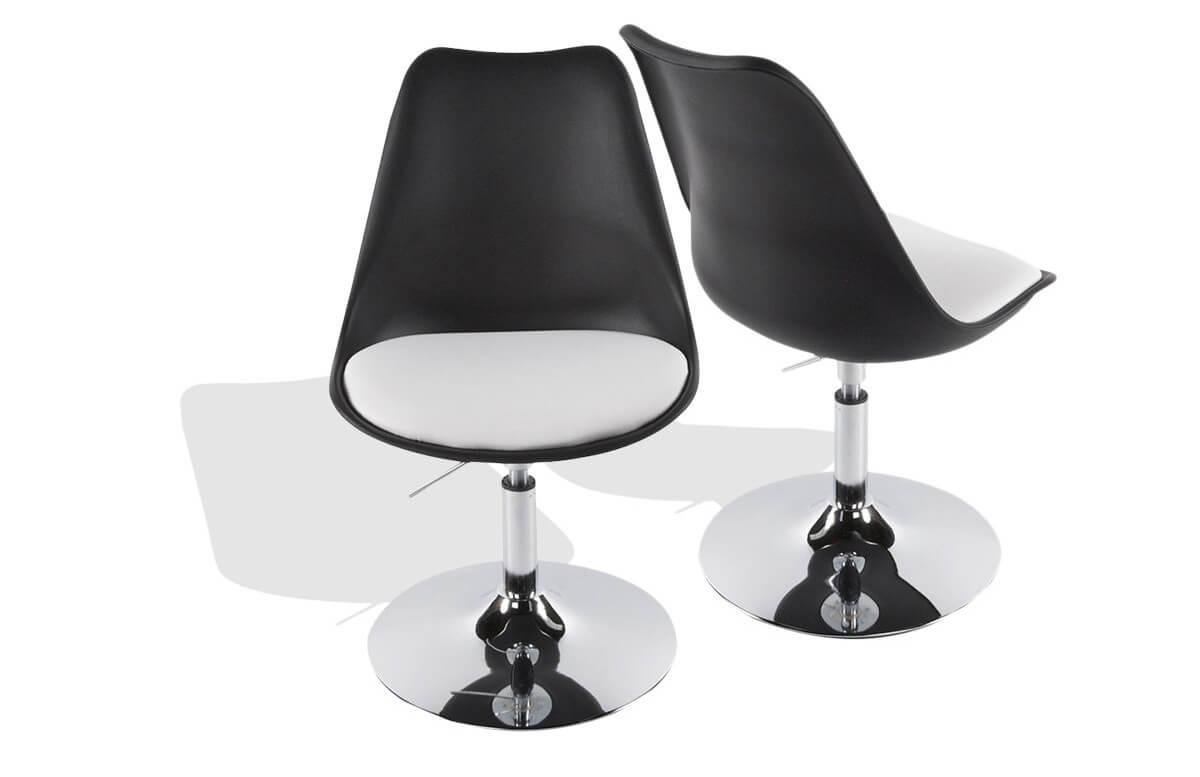 chaise design noir blanc