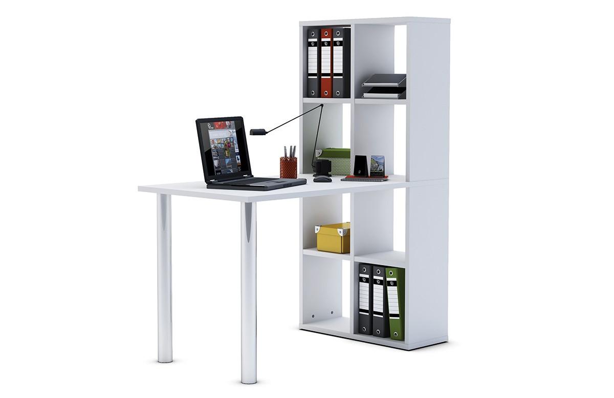 bureau bibliotheque couleur m blanc