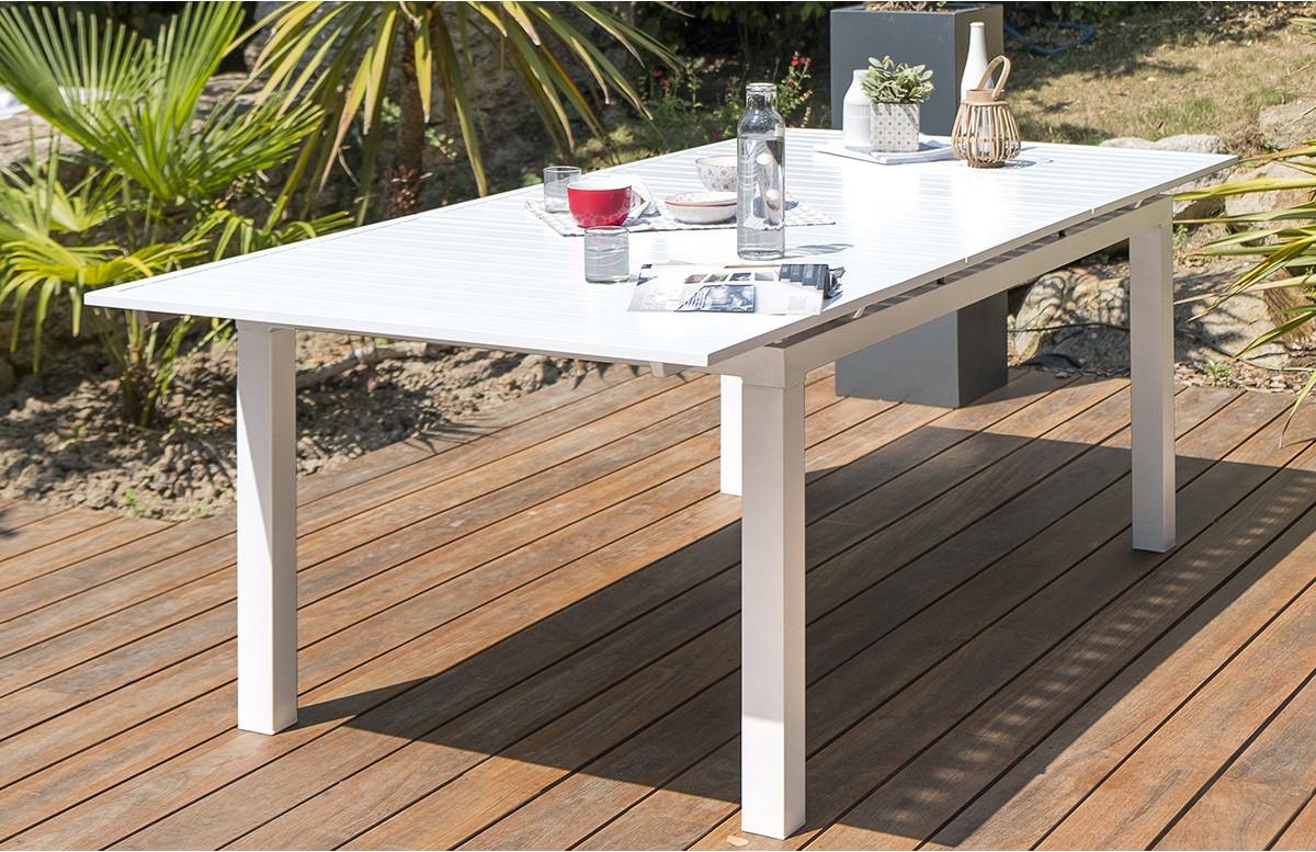 table salon de jardin extensible en aluminium pour 8 personnes dcb garden mykonos