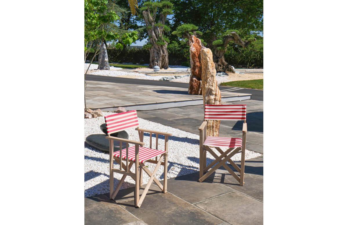 fauteuil de jardin pliable lona en bois d eucalyptus et toile city garden