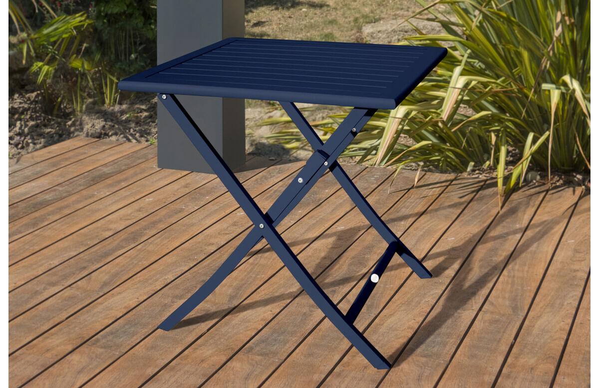 table salon de jardin pliante et carree en aluminium pour 2 personnes marius city garden