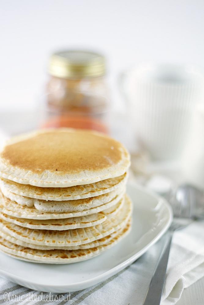 pancakes riso 2 - Pancakes alla farina di riso soffici