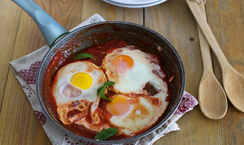 Uova in purgatorio gustose e veloci