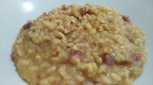 risotto con crema di finocchi senza glutine