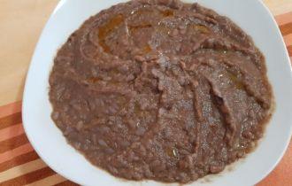 risotto con crema di radicchio