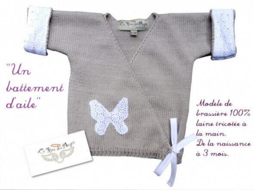 Brassière laine bébé