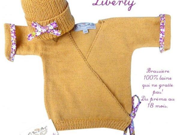 Brassière laine bebe
