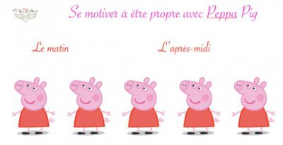 tableau propreté Peppa Pig