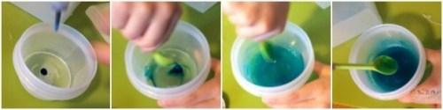 Savons colores pour le bain