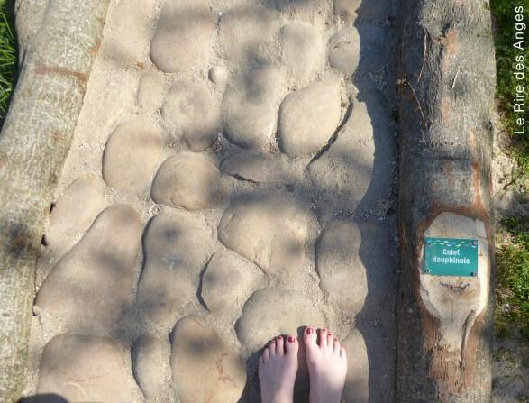 sentier pieds nus et labyrinthes