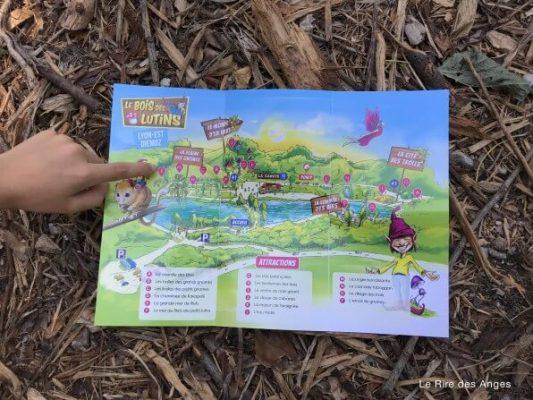 carte parc le bois des lutins Diemoz