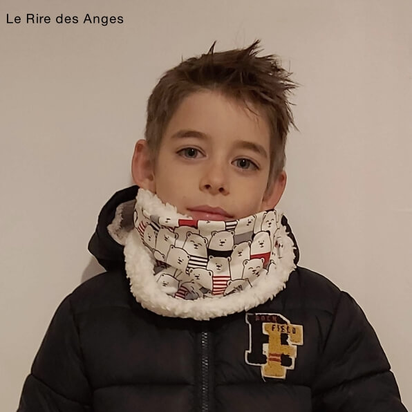 tour de cou snood enfant ours