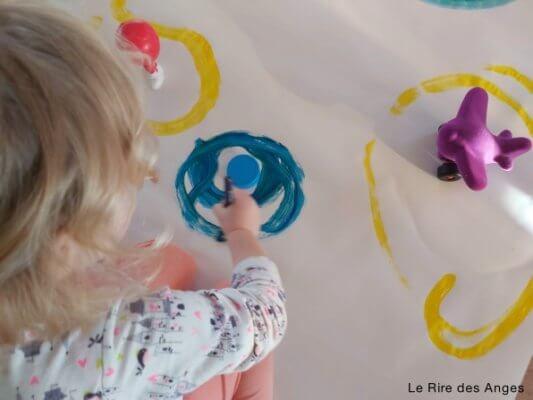 peinture enfant éveil art le grand embouteillage