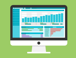 Charts mit Statistiken auf einem Mac