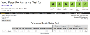 Web Page Performance Test am 3. März 2018