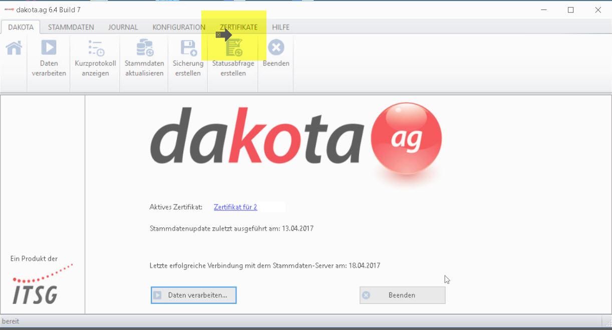 Lexware Lohn Dakota 2018: Sperre ab und im Januar für Versand und Empfang von Daten