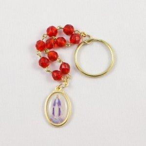 porte-clefs dizainier avec médaille miraculeuse-avers