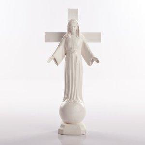 statue dame de tous les peuples pvc blanc-1a
