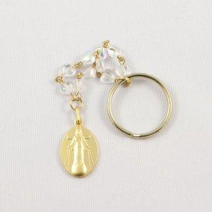 porte-clefs dizainier avec médaille dorée de la dame-avers
