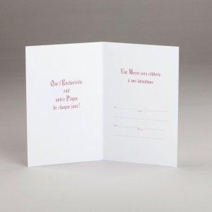 carte de pâques-une offrande de messe pour pâques-intérieur