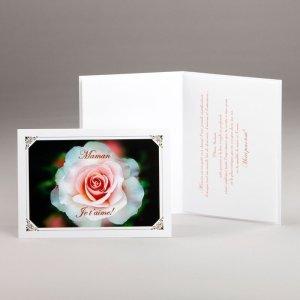 carte fête des mères-rose majestueuse