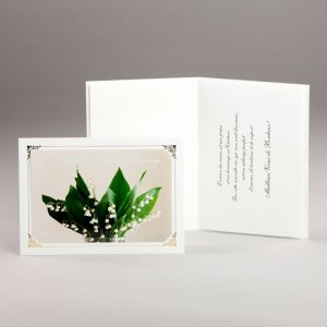 carte fiançailles ou mariage-muguet printanier