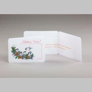 carte cadeau-petits oiseaux-noël