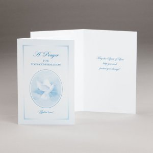 card for confirmation-god is love