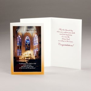 card for confirmation-confirming one's faith
