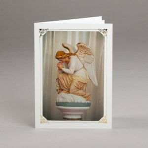 card with assorted photos-angel in adoration