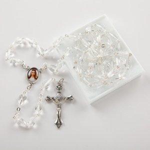 chapelet en verre forme diamant