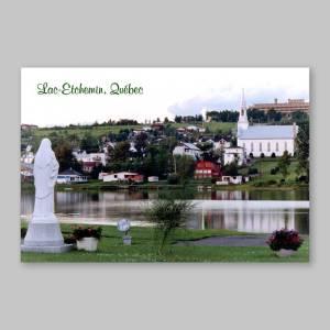 carte postale - église et sanatorium