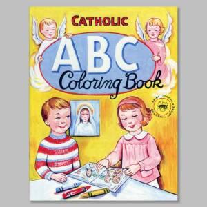 coloring book catholic abc