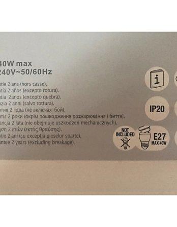 applique exterieur rosario ampoule 4w led inclus noir hauteur 10cm garantie 1 an economie d energie