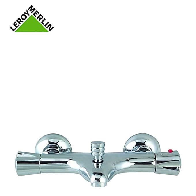 robinet mitigeur thermostatique de baignoire chrome nerea robinet