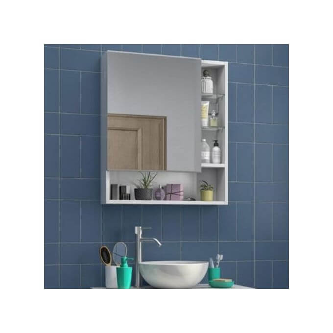Merlin Armoire De Toilette 1 Porte Miroir A Suspendre Larg 60cm Easy Blanc Garantie 2 Ans Leroy Merlin Cote D Ivoire