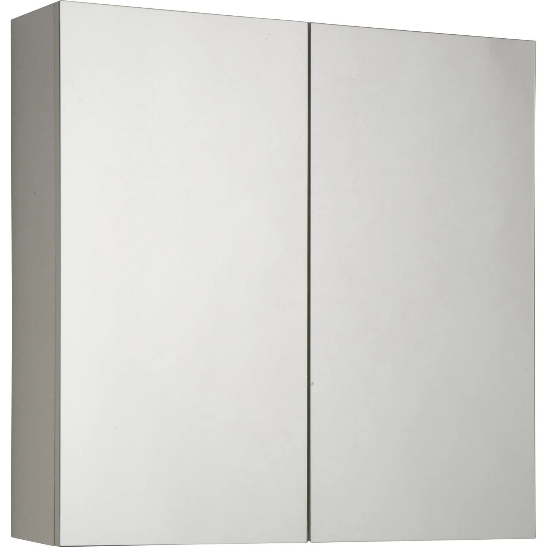 Armoire De Toilette L60 Cm Blanc Modulo Leroy Merlin