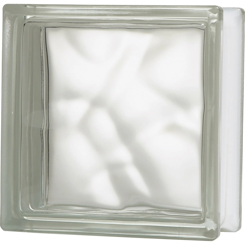 Brique De Verre Transparent Ondul Brillant Leroy Merlin