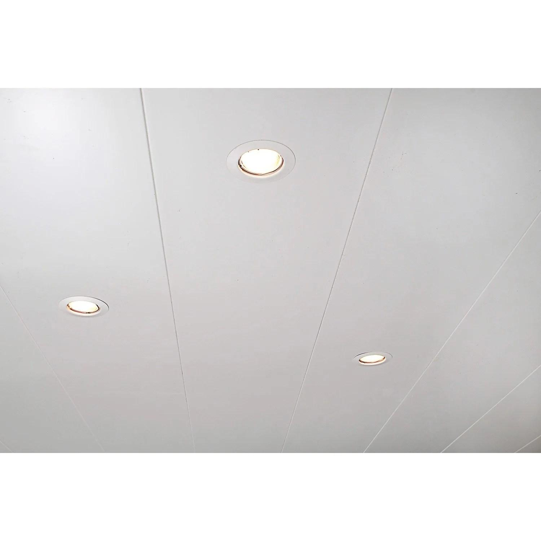 Lambris PVC Blanc ARTENS L400 X L25 Cm X Ep10 Mm