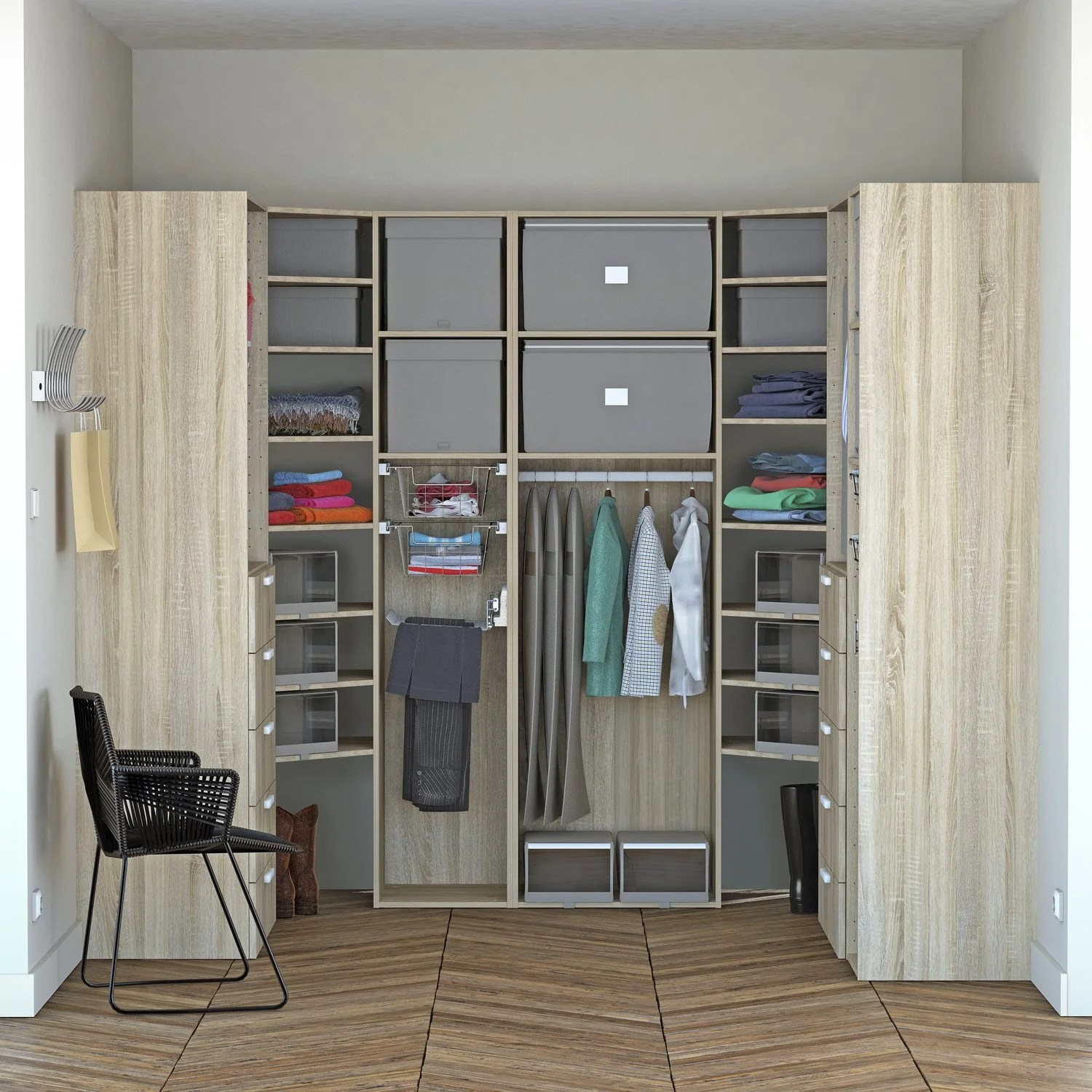 Dressing SPACEO Home Effet Chne Leroy Merlin