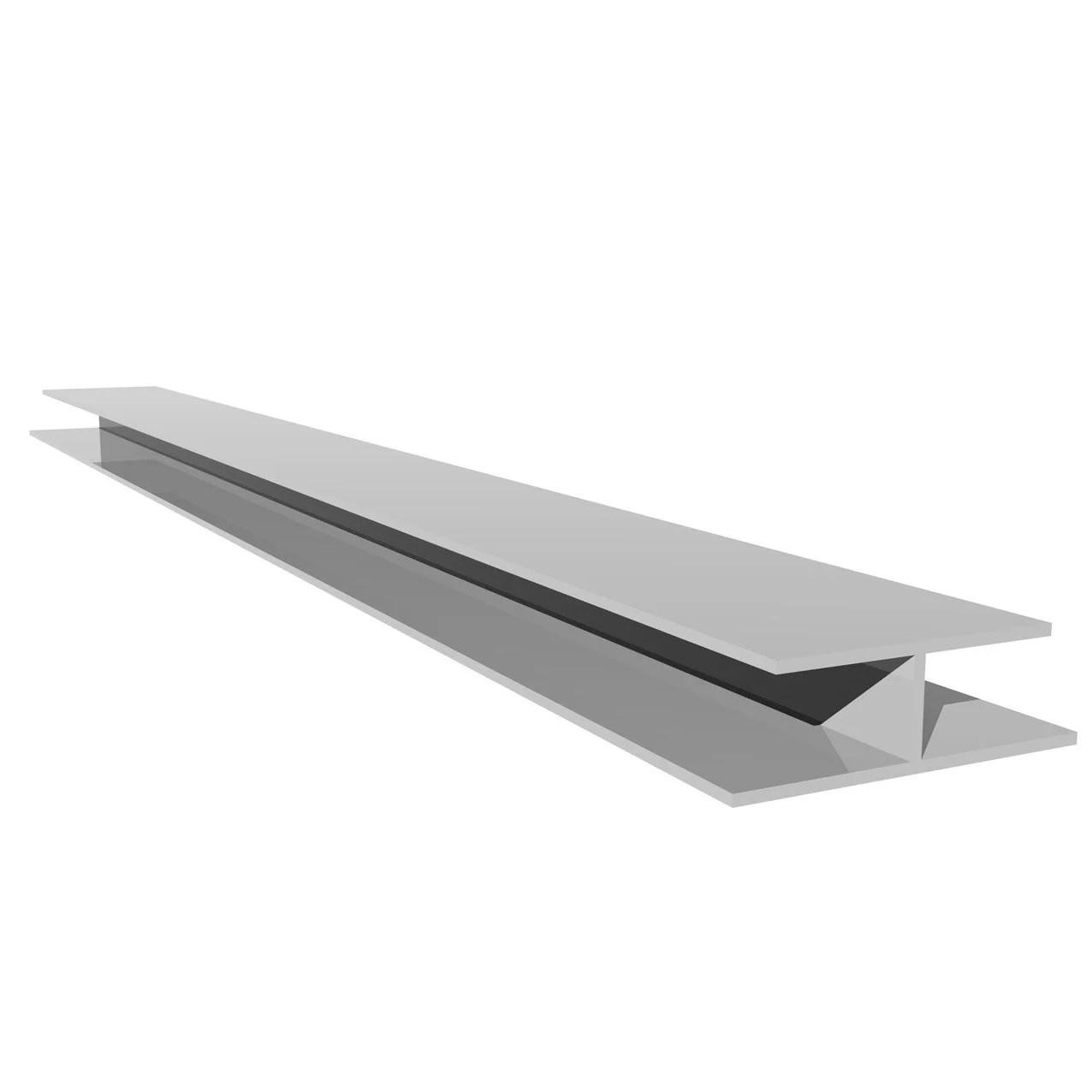 Profil De Jonction H Blanc Pvc L 3 M