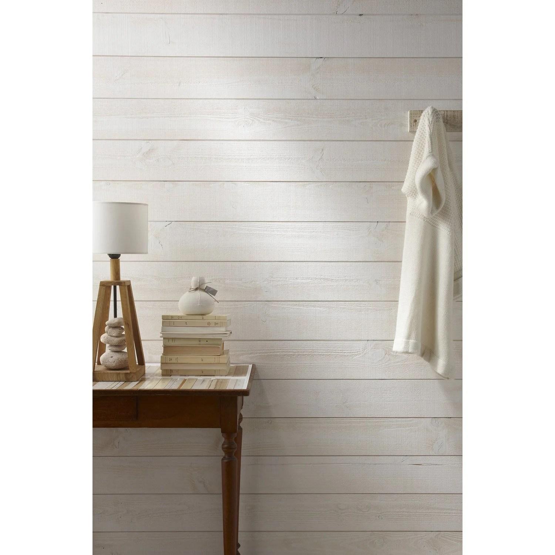 Lambris Bois Sapin Brut De Sciage Blanc ARTENS 235x135cm