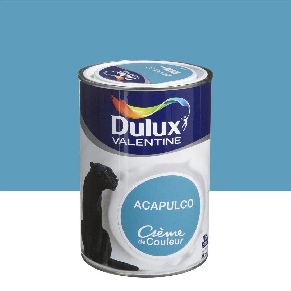 Peinture Bleu Acapulco DULUX VALENTINE Crme De Couleur 1