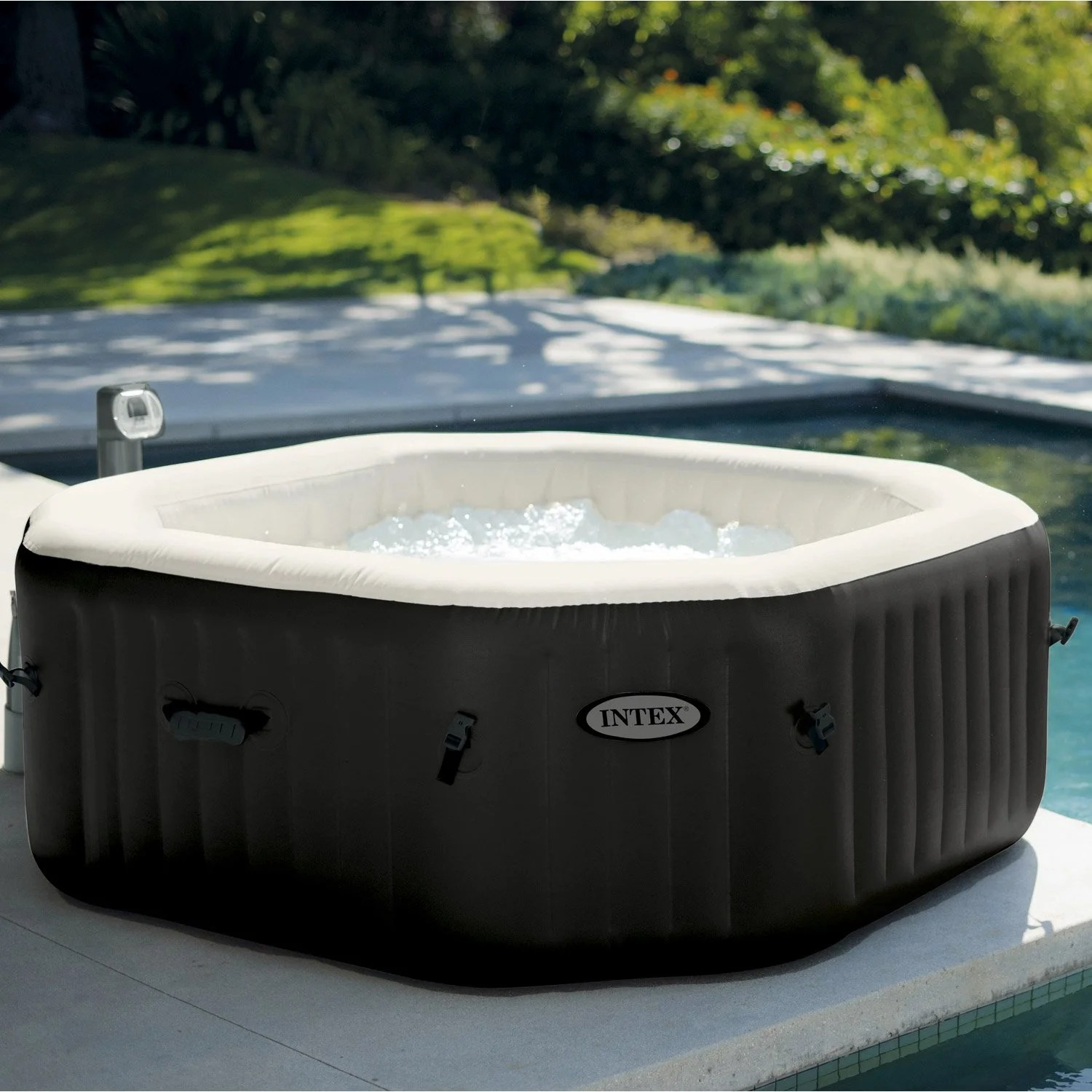 Spa Gonflable Octogonale INTEX 4 Places Assises Leroy