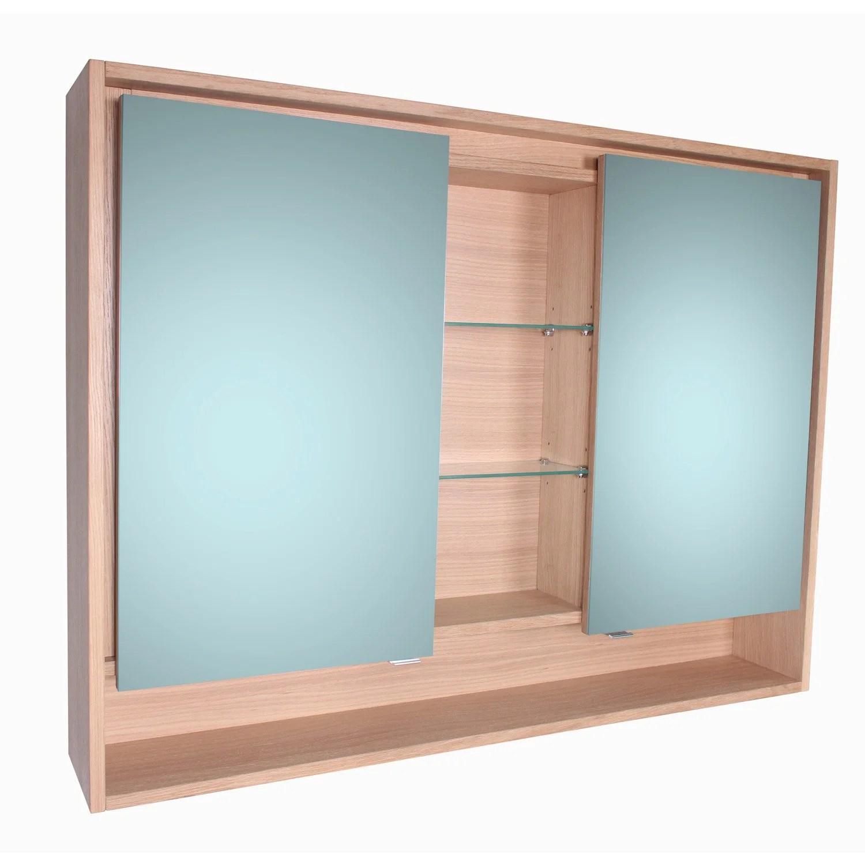 Armoire De Toilette Lumineuse L 120 Cm Imitation Chne